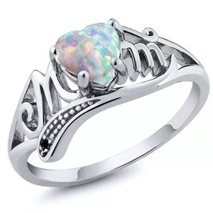 Natural Opal Mom Ring